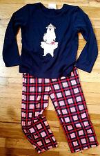 NWT Hanna Andersson Sleepyheads POLAR BEAR Dreamy Poly PJs Pajamas NAVY 110 5 6