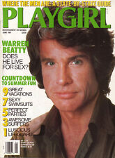 PLAYGIRL June 1987 WARREN BEATTY Johnny Weissmuller SURFERS Jean LeClerc