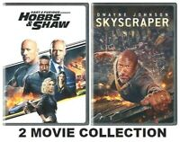 Lot of 2 DVD's * Dwayne Johnson / Skyscraper + Fast And Furious: HOBBS & SHAW