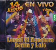Leonel El Ranchero y Bertin y Lalo 14 Exitos En Vivo Volumen 1 CD No Seal