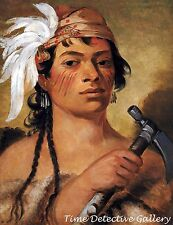 Good Hunter, a Seneca Warrior by George Catlin -1831 Native American Art Print