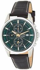 Seiko Chronograph Alarm Dark Green Dial Men's Watch - SNAF09P1 NEW