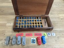 VINTAGE PROTEX ANTIQUE XRAY MARKERS FULL SET WOODEN BOX RARE