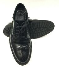 Burberry Prorsum Mens Black Leather Wingtip Oxford Brogues Shoes Size 8.5 US