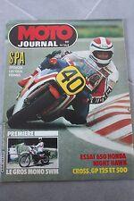 MOTO JOURNAL N°564 HONDA CB 650 SC NIGHT HAWK GRAND PRIX BELGIQUE SWM XN 1982