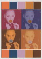 EXPRESS World Brands Tower Records 1997 Postcard Andy Warhol 1960s Pop Art