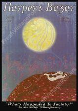 Erte art deco Harper's Bazar June 1921 cover poster 24x34
