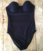 Brand New J. Crew Underwire one-piece swimsuit Navy A7141 $110 Sz 2 strapless