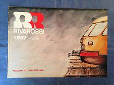 MODELLISMO FERROVIARIO CATALOGO RIVAROSSI 1987 NOVITA'