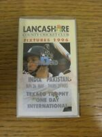 1996 Cricket: Lancashire County Cricket Club - Fixtures Booklet, Fold Out Style.