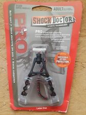 New Shock Doctor Pro Mouthguard Strapped - Clear/Black w/ Dental Warranty- Adult