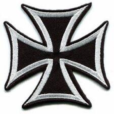 Maltese Iron Cross Biker Vest Jacket Denim Patch Iron On Sew On