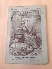 D23> La Patria - Geografia d'Italia Vol III Italia centrale  Il lazio primi '900
