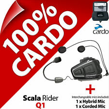 New Cardo Scala Rider Q1 (Single) Bluetooth Motorcycle Helmet Intercom Headset