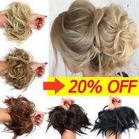 LARGE 100% REAL Messy Bun Scrunchie Hair Extension Ponytail As Human Hair Piece