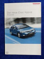 Honda Civic Hybrid - Preisliste MJ 2006 - Prospekt Brochure 03.2006