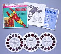 Vintage 1977 GAF View-Master | Cartoon Favorites IRON MAN 3-Reel Set | Free S&H