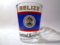 BELIZE FLAG SHOT GLASS SHOTGLASS