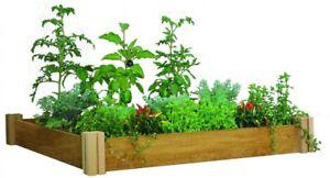 Raised Garden Bed 48 in. x 48 in. x 6.5 in. Modular One Level Western Red Cedar