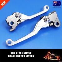 Silver Brake & Clutch Levers Set For Honda CRF250R CRF250 R CRF450R CRF450 R CNC