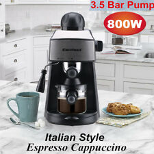 3.5Bar Steam Coffee Machine Drink Espresso Cappuccino Maker Barista 4-Cup 800W