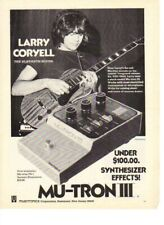 1974 Larry Coryell The Eleventh House Mu-TRON III 3 Guitar Effects - Vintage Ad