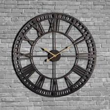 Vintage Wall Clock 60cm Large Clokc Watch Wrought Metal Industrial Iron Clock...