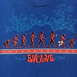 colorado OSKAR BLUES BREWERY t-shirt--EVOLVE fun graphics-AMERICAN APPAREL--(XL)