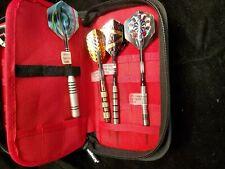 New listing Unicorn Salesman Dart Case w/ 7 Different Darts 4 Soft Tip 3 Steel Tip