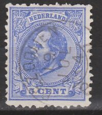 NVPH Netherlands Nederland 19 TOP CANCEL BEZOOIJEN Willem III 1872