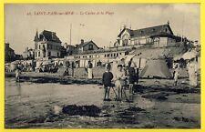 cpa 50 - SAINT PAIR SUR MER (Manche) Le CASINO et le PLAGE Villa Animés