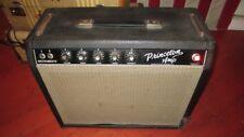 Vintage Original 1964 Fender Princeton Guitar Amp Pre-CBS Blackface Sounds Great