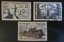 Timbres France 1955 - YT 1021 1022 1024
