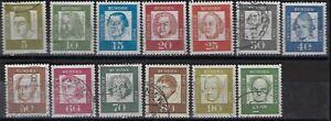 Germany-Berlin, 1961, Sc# 9N176//9N190, Famous Men, used