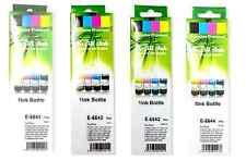 Conjunto Completo De 4 Tinta De Recarga Botellas 4x70ml Para Epson L100 L110 L120 L 130 de L132 L200