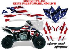Amr racing décor Graphic Kit ATV suzuki ltr 450 Lt-r stars N bande B
