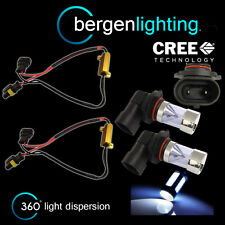 2X HB3 9005 WHITE 4 CREE LED FRONT MAIN HIGH BEAM LIGHT BULBS KIT XENON MB502901