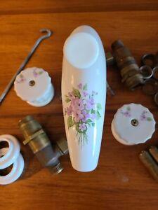 Antique Porcelain Lavatory Faucet | Hand-Painted | Complete + Working + RARE