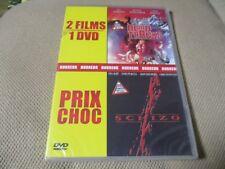 """DVD 2 FILMS NEUF """"BLOOD TRACKS (LES ENTRAILLES DE LA NUIT) / SCHIZO"""" horreur"""