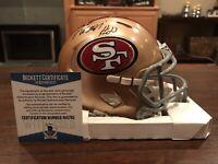 Matt Brieda Autographed San Francisco 49ers Riddell Mini Helmet Witness Beckett