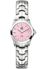 CYBER MONDAY SALE AUTHENTIC TAG HEUER LADY LINK WJF1412.BA0585 PINK PEARL WATCH