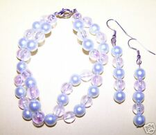 Bracelet & Earring Jewelry Sets - Irridescent/Pearls