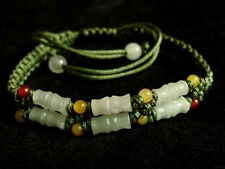 Cute Braided 6 Bamboo Jade Beaded Bracelet -become better each passing day