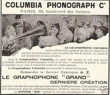 Publicité ancienne phonograph Co Columbia1899 issue de magazine