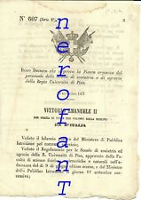 Università PISA.Facoltà di Agraria e veterinaria- Decreto che approva ..-1871