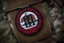 III% California PVC Morale Patch MoeGuns Liberty 2A American Patriot 3% Militia