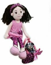 GiftsForYouNow Pinky Promise Leopard Dress Rag Doll