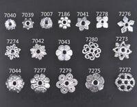 50 Pieces Tibetan Silver spacer Bead Caps DIY Jewelry Bracelet Necklace 17 style