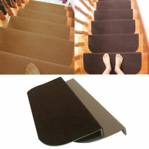 1/7/13Pcs Non-slip Carpet Stair Tread Mats Step Rug Protection Cover Home **