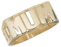 9ct Yellow Gold MUM Ring Large Sizes